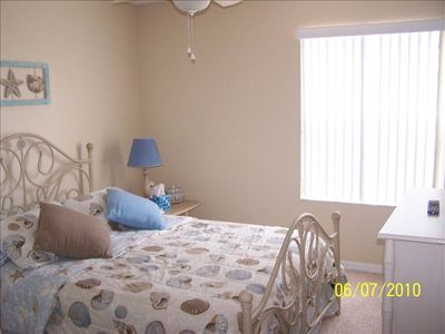 Terra Verde townhome rental - Master Bedroom with in-suite bathroom & flat screen tv