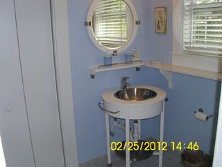 Tybee Island house photo - Blue bath with shower