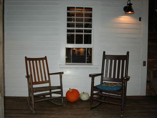 Woodstock house photo - Porch off of kitchen, perfect for your morning coffee and bird watching!