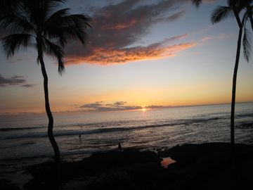 Surfer Sunset to the right on Lanai!