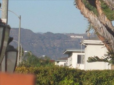 Los Angeles house rental - View from the outdoor patio.