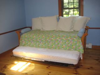 East Sandwich house photo - Bedroom on 1st Floor - Day Bed with Pop-Up Trundle Underneath
