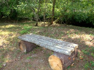 Blairsville cabin photo - Very Rustic bench next to creek