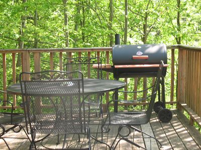 "CHARCOAL BBQ GRILL, PATIO FURNITURE WAITING FOR YOU AT ""MOUNTAIN MAGNOLIA"""