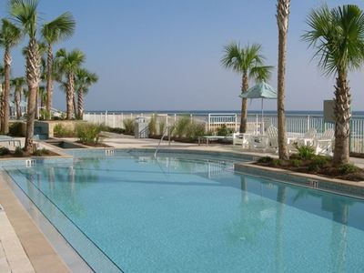 Second pool a few steps from beach.  Overlooks ocean!