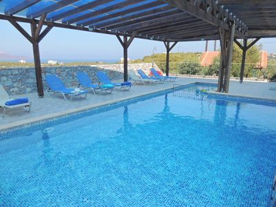 Almirida villa rental - The Eagle's Nest pool with children's section