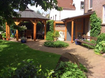 Berlin outskirts - (Brandenburg) apartment rental - Entrance area with gazebo