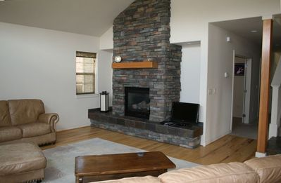 Fireplace Makes this Living Room Especially Cozy