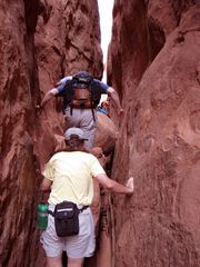 Moab condo photo - Fiery Furnace tight squeeze.
