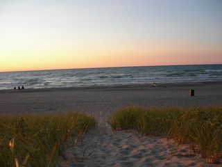 Michigan City house photo - Path to the beach in the evening