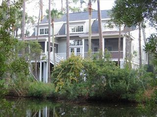 Seabrook Island house photo - Rear of house viewed from adjacent lagoon