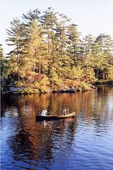 Stoney Lake cottage photo - Canoeing past the picnic islands in the private channel