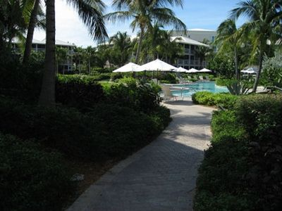 Walk from Suite 516 at Ocean Club West to the pool -- Rental by Owner