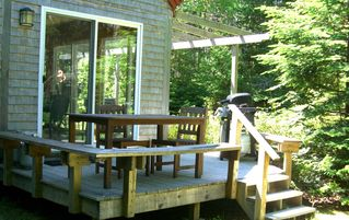 Bass Harbor house photo - Quiet wooded setting