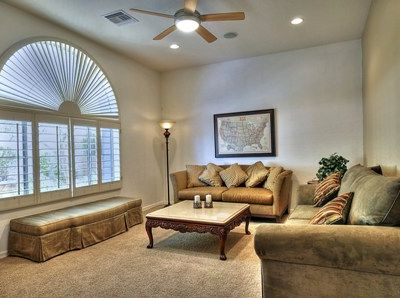 Scottsdale villa rental - Media Room with 2 beautiful sofas