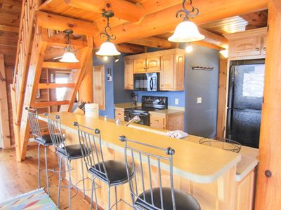 Carolina Cabin Rentals Cloud 9 Kitchen
