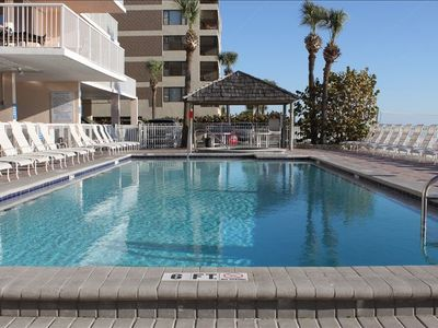 Madeira Beach condo rental - Heated Pool and Spa right on the beach