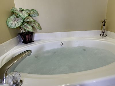 whirlpool tub in bedroom