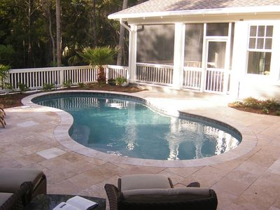 Private Courtyard w/ Large Heated Pool