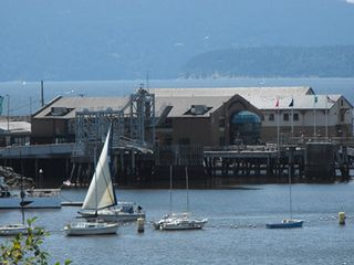 Bellingham apartment photo - Fairhaven's Alaska Ferry Terminal with bus and train station to the left.