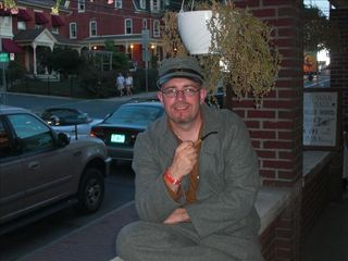 "Lancaster apartment photo - My wife and I took a trip to Gettysburg - me in my ""Johny Reb""."