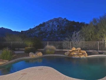 Scottsdale Troon house rental - Private yard with heated, salt water pool backs right-up to mountain
