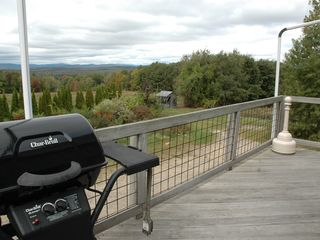 Gilford house photo - Private Deck overlooking the White Mountains. Has awning.