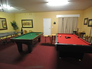 Emerald Island house photo - Extended Game room with 2 full size Pool Tables, 1 Ping Pong table, 1 dart board