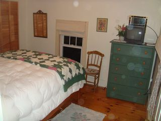 Boothbay Harbor house photo - New Mission style bed with new Queen size mattress