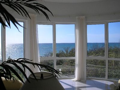 Panoramic views of the Ocean from the Living Room