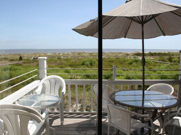 Harbor Island condo rental - View of Dunes & Ocean from Family Room & Deck