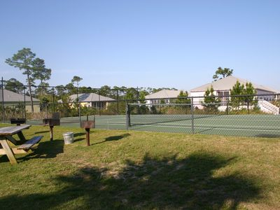 BBQ Are Between Pool & Tennis Courts