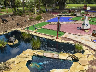 Part of the professional private mini golf course (email us for clear high res )