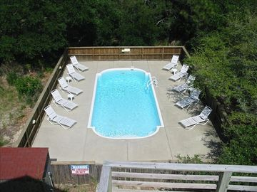Large private sun-filled pool(15x30) with added decking