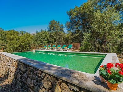 Llobera in the forests of Pollença, with private pool, near beach and golf course