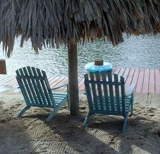 Enjoy the brand new house dock and thatch roof palapa