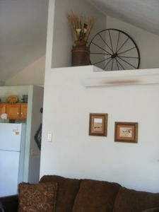 Western decor in upper level living area