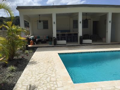 New addition, 32x17 covered patio and 24x14 pool, with large deck all around