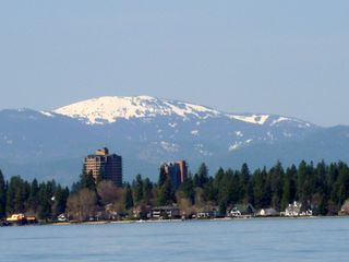 Coeur d 'Alene house photo - View of town from the lake-April 2012
