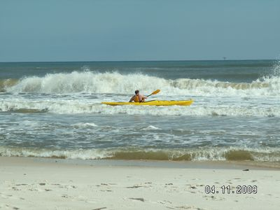 Kayaking in the Gulf in front of the Sea-Esta!