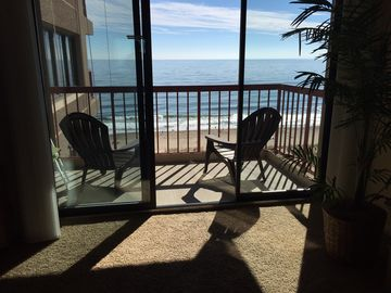 Rainbow Ocean City condo rental - View of the Beach and Ocean from the living room. looks like a postcard!