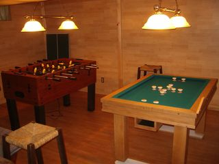 Sturbridge cottage photo - Lower Level Game Room - Foosball and Bumper Pool, plus puzzles and games.
