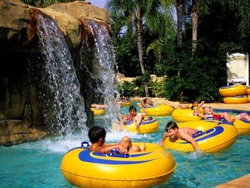 Lazy river inside water park