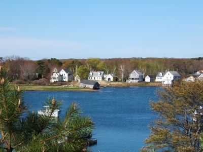 View of Seashore Cape over Cape Porpoise Harbor