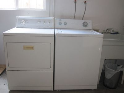 Your private washer and dryer in garage