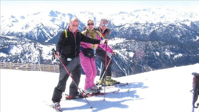 Skiing in nearby Spain with a guest