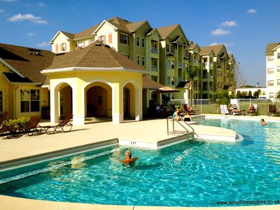 Amazing value 3 bd condo at luxury Resort 4 miles from Disney with Pool/Gym/Spa