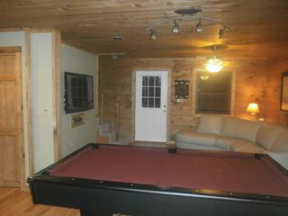 Boone cabin photo - Large gameroom area for hours of fun & excitement. Ping-pong table not pictured