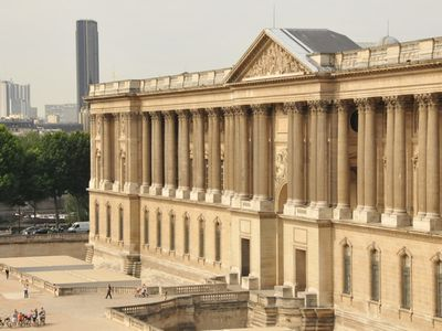 View from the balcony. Le Louvre Museum