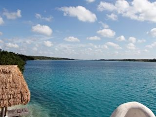 Bacalar studio photo - Lagoon view from the sundeck